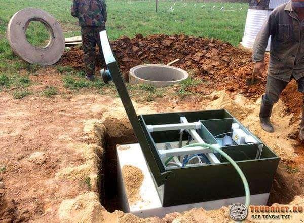 Фото – установка системы канализации