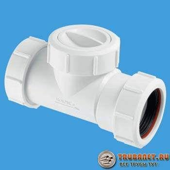 Фото – клапан для канализации 40 мм
