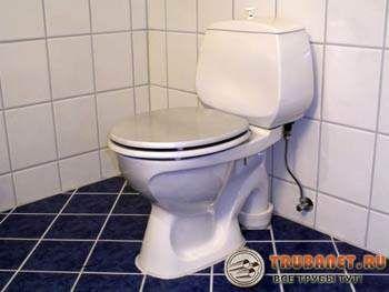 Фото – подключение к канализации