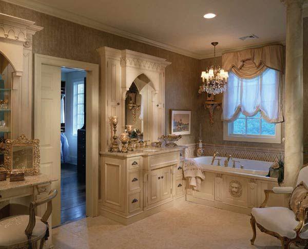 Фото – барокко в ванной комнате