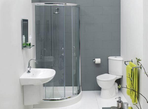 Фото – дизайн маленького туалета с душевой