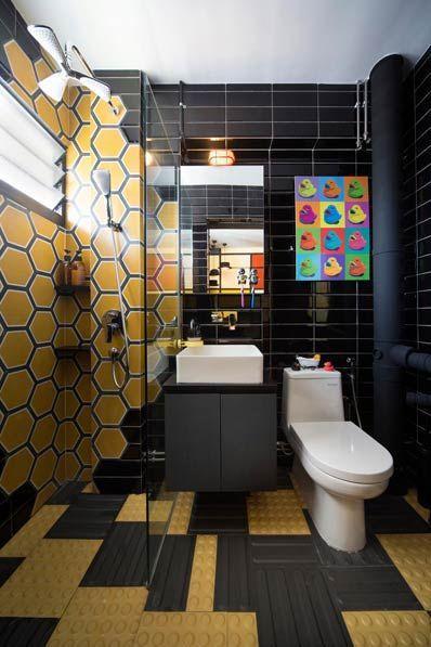 Фото – интерьер туалета 6 кв. м с душевой