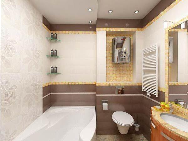Фото – интерьер туалета 6 кв. м