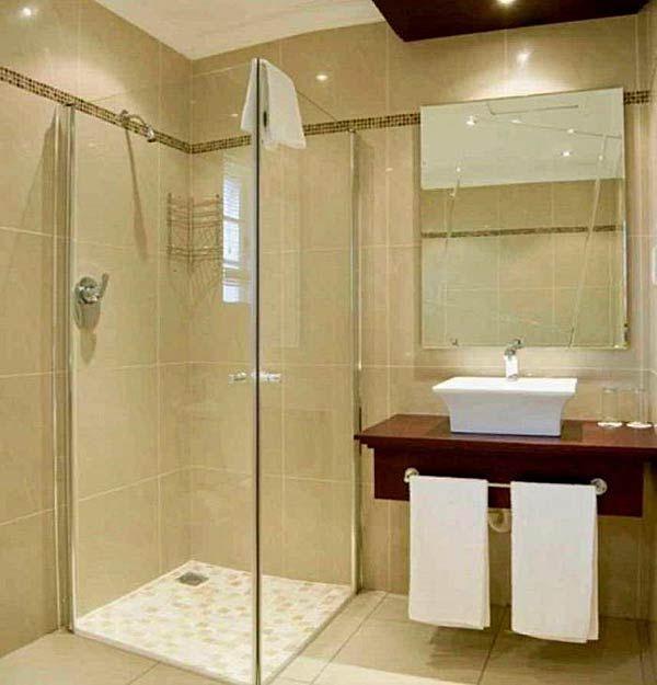 Фото – маленький санузел с душем