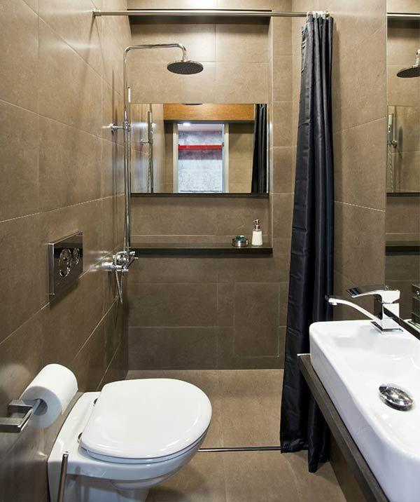 Фото – маленький туалет с душевой