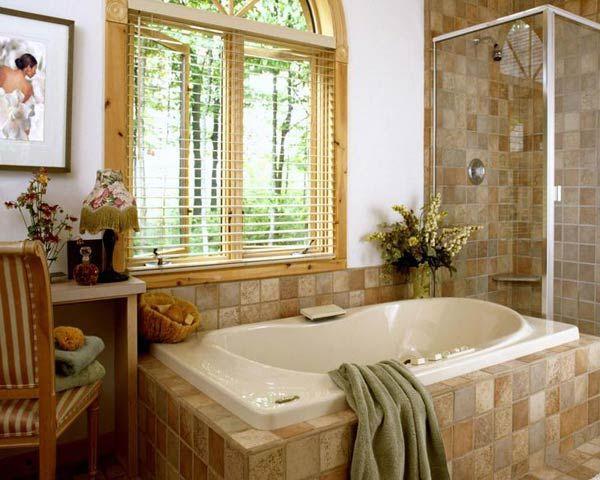 Фото – проект кантри ванной комнаты