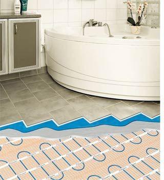 теплый пол в ванну под плитку