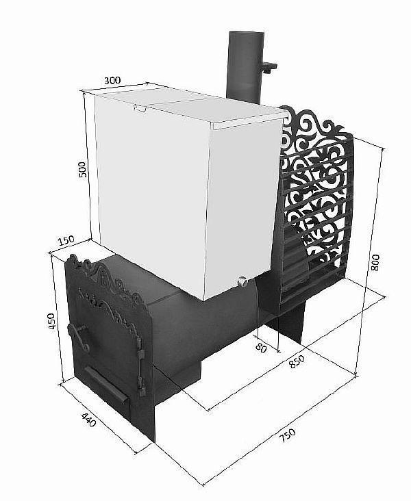 Вертикальная и горизонтальная печь для бани из трубы - делаем своими руками
