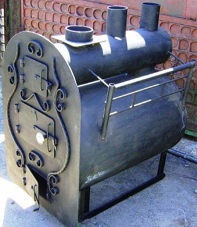 Фото — Горизонтальная печь.