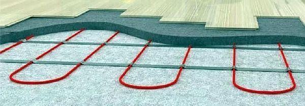 Фото — Кабельный тёплый пол под ламинат.