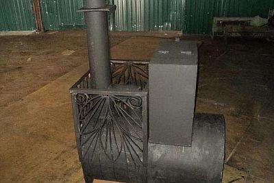 Фото — Печь в баню из трубы