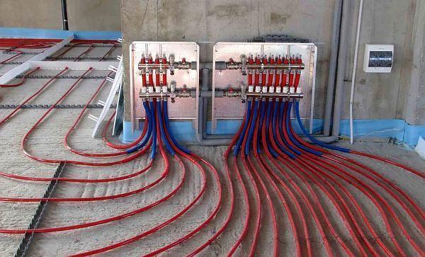 Фото — Подключение системы водяного тёплого пола.