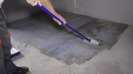 Фото — Подготовка бетонного основания.
