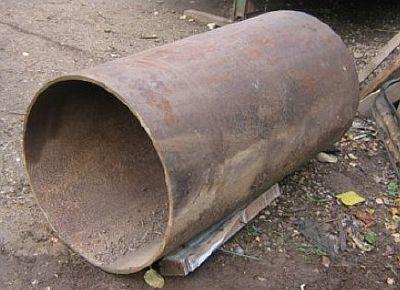 Фото — Труба металлическая для печи.