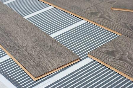 Фото — Тёплый пол под ламинат на бетонное основание