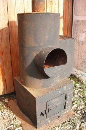 Фото — Установка печи на фундамент.