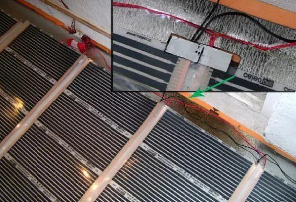 фото — Установка термодатчика и подключение пола.
