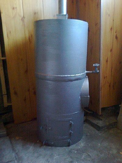 Фото — Вертикальная печь для бани.