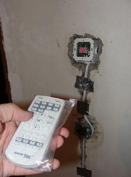 Фото - установка терморегулятора