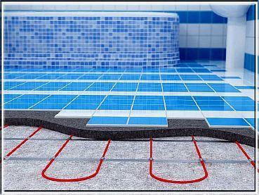Фото — Керамическая плитка на водяной тёплый пол