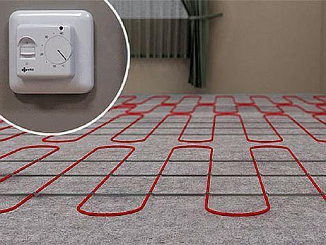 Фото — Прокладка кабеля электрического пола
