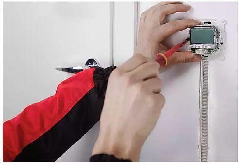 Фото — Установка терморегулятора