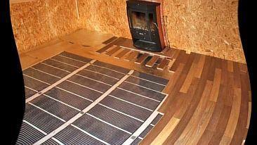 Фото — Инфракрасный тёплый пол под паркет
