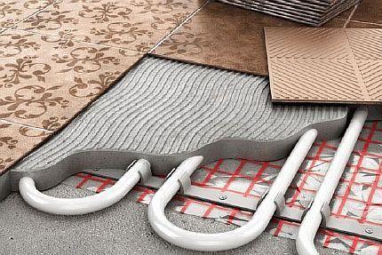 Укладка теплого пола в стяжку – технология по шагам для водяного и электрического пола