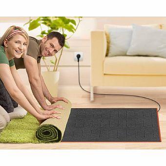 Фото — Плёночный тёплый пол на ковёр