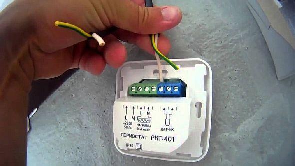 Фото — Подсоединение терморегулятора