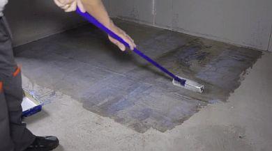Фото — Подготовка бетонного основания
