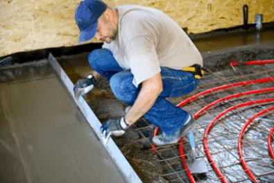 Наложить бетонной смесью