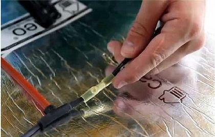 Фото — Соединение стержневого пола в единую электрическую схему