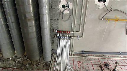 Фото — Водяной пол в частном доме от газового котла
