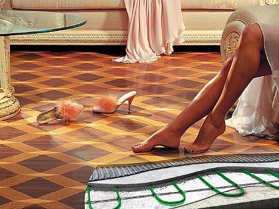 Фото — Линолеум на тёплом полу