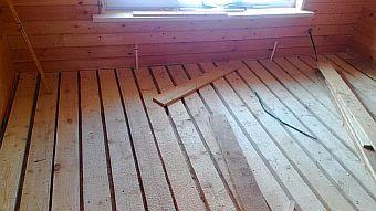 Фото — Очистка деревянной поверхности