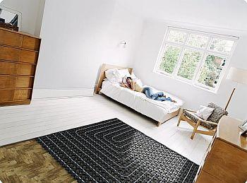 Фото — Тёплый пол для спальной