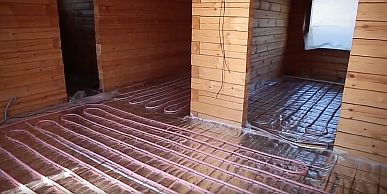 Фото — Тёплый водяной пол в частном доме