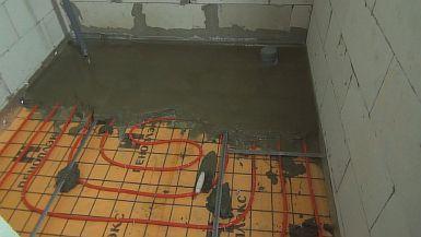 Фото — Заливка бетонной стяжки