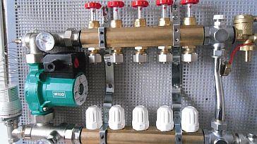 Фото — Подключение смесительного узла к обратки батареи