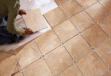 Фото — Укладка керамической плитки на тёплый пол