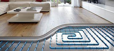 Фото — Водяной тёплый пол в доме