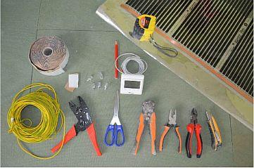 Фото — Материал и инструмент для тёплого пола