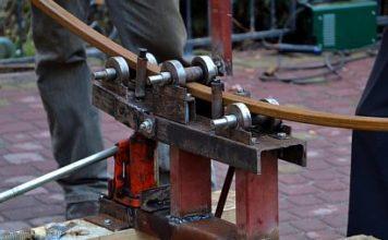 Фото — Трубогиб для профильной трубы