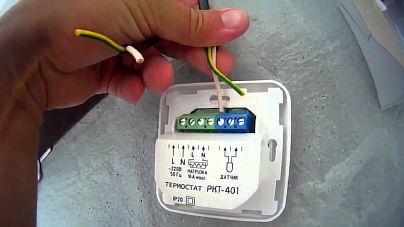Фото — Подключение термостата