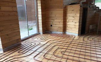 Фото - теплый пол в каркасном доме