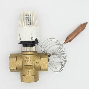 Фото — Термостатический клапан с выносным датчиком