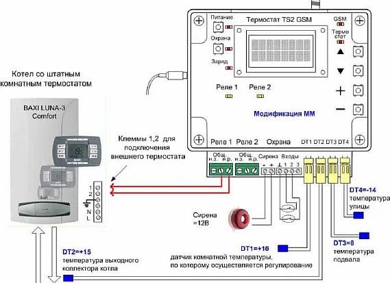 Фото — Схема с терморегулятором