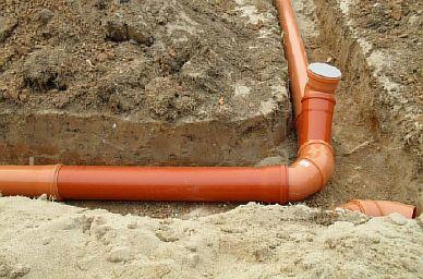 Фото — Укладка канализации