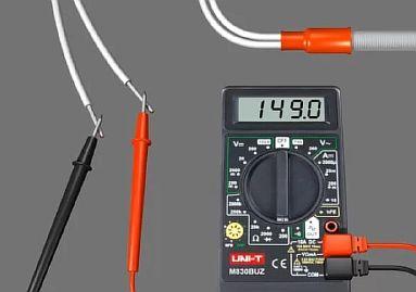 Фото — Измеряем сопротивление кабеля